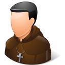 Religions Catholic Monk Emoticon