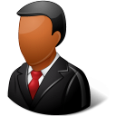 Office Customer Male Dark Emoticon