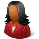 Office Customer Female Dark Emoticon
