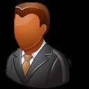 Office Client Male Dark Emoticon