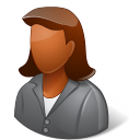 Office Client Female Dark Emoticon