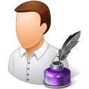 Occupations Writer Male Light Emoticon