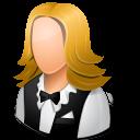 Occupations Waitress Female Light Emoticon