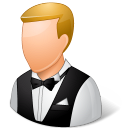 Occupations Waiter Male Light Emoticon