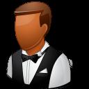 Occupations Waiter Male Dark Emoticon