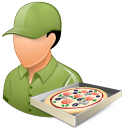 Occupations Pizza Deliveryman Male Light Emoticon