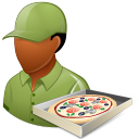 Occupations Pizza Deliveryman Male Dark Emoticon