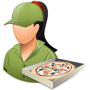 Occupations Pizza Deliveryman Female Light Emoticon