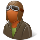 Occupations Pilot OldFashioned Male Dark Emoticon