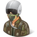 Occupations Pilot Military Male Light Emoticon