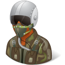 Occupations Pilot Military Male Dark Emoticon