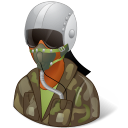 Occupations Pilot Military Female Dark Emoticon
