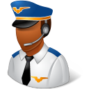 Occupations Pilot Male Dark Emoticon