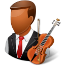 Occupations Musician Male Dark Emoticon