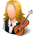 Occupations Musician Female Light Emoticon