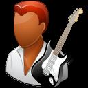 Occupations Guitarist Male Dark Emoticon
