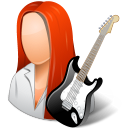 Occupations Guitarist Female Light Emoticon