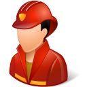 Occupations Firefighter Male Light Emoticon