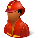 Occupations Firefighter Male Dark Emoticon