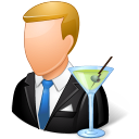 Occupations Bartender Male Light Emoticon