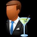 Occupations Bartender Male Dark Emoticon