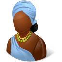 Nations African Female Emoticon
