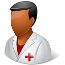 Medical Nurse Male Dark Emoticon