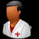 Medical Nurse Male Dark Emoticon
