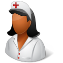 Medical Nurse Female Dark Emoticon