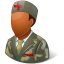 Medical Army Nurse Male Dark Emoticon