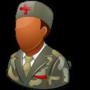 Medical Army Nurse Male Dark Emoticon