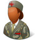 Medical Army Nurse Female Dark Emoticon
