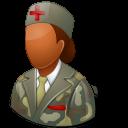 Medical Army Nurse Female Dark Emoticon