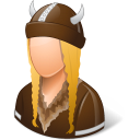 Historical Viking Female Emoticon