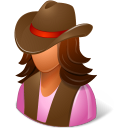 Historical Cowgirl Emoticon