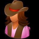 Historical Cowgirl Emoticon