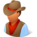Historical Cowboy Emoticon