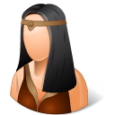 Historical Barbarian Female Emoticon