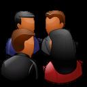 Groups Meeting Dark Emoticon
