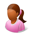 Age Child Female Dark Emoticon