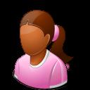 Age Child Female Dark Emoticon