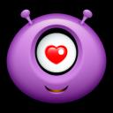 Alien Love Emoticon