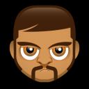 Male Face O3 Emoticon