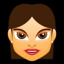 Female Face Fg 2 Brunette Emoticon