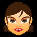 Female Face Fg 1 Brunette Emoticon