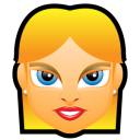 Female Face FE 4 Blonde Emoticon