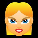 Female Face Fe 4 Blonde Emoticon