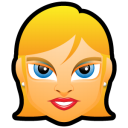Female Face FE 3 Blonde Emoticon