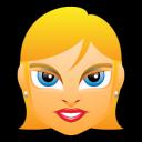 Female Face Fe 3 Blonde Emoticon