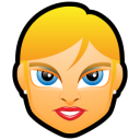 Female Face FE 2 Blonde Emoticon
